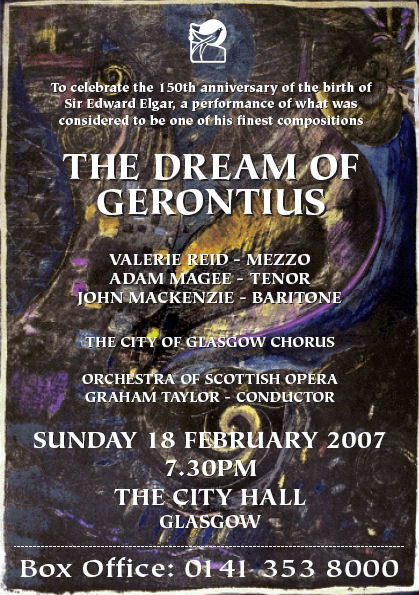 City of Glasgow Chorus presents Elgar's The Dream of Gerontius: Glasgow City Hall, Sun Feb 18th at 7.30pm. Tel: 0141 353 8000